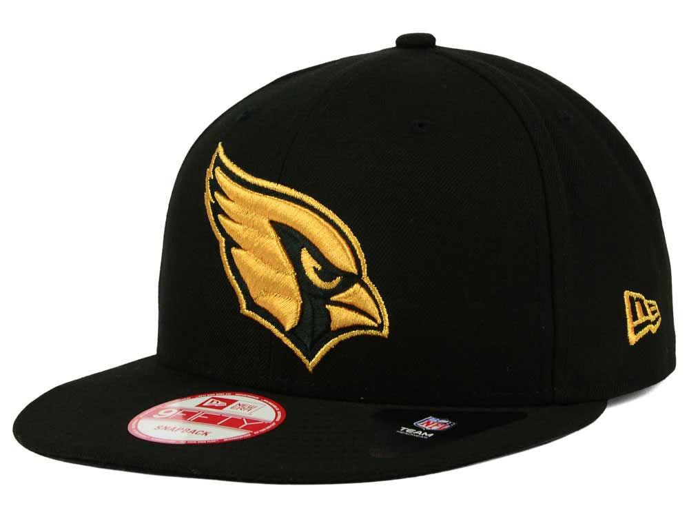 sports shoes c8731 e0ffd ... shop arizona cardinals new era nfl black metallic gold 9fifty snapback  cap 2271c 70ecb
