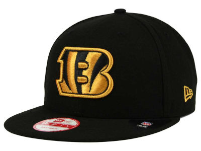 Cincinnati Bengals New Era NFL Black Metallic Gold 9FIFTY Snapback Cap