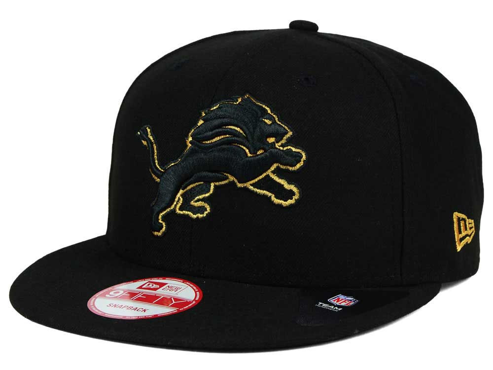 new style 0653c 9beca ... where to buy detroit lions new era nfl black metallic gold 9fifty  snapback cap 3cdae 82567