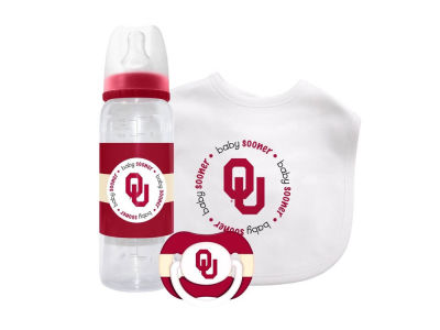 Oklahoma Sooners 3pc Baby Gift Set