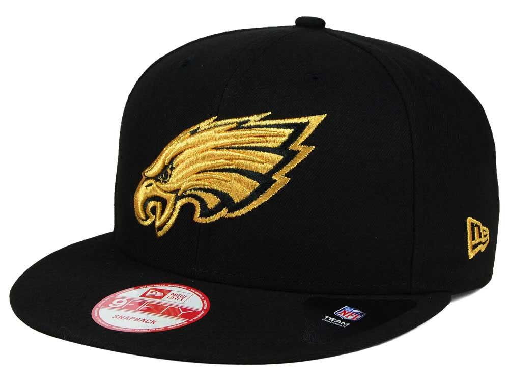 cheaper f8bb0 5fa4b ... australia philadelphia eagles new era nfl black metallic gold 9fifty  snapback cap e5703 20656