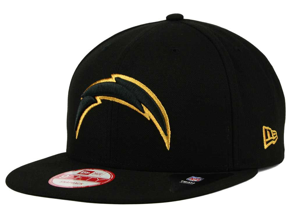 1bd5166a427 San Diego Chargers New Era NFL Black Metallic Gold 9FIFTY Snapback Cap