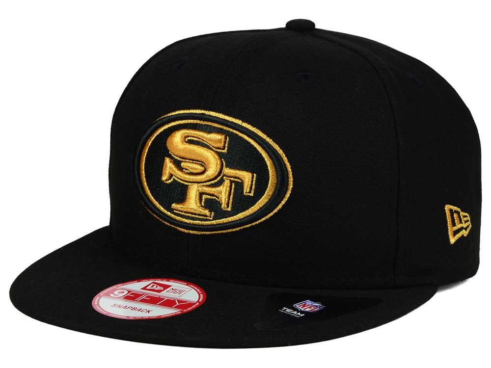 3d0cbedaf4c San Francisco 49ers New Era NFL Black Metallic Gold 9FIFTY Snapback Cap