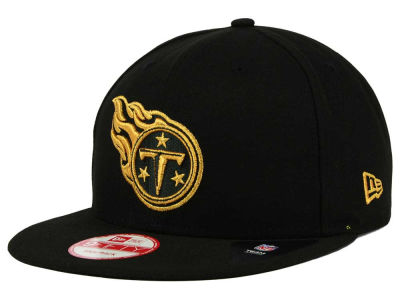 Tennessee Titans New Era NFL Black Metallic Gold 9FIFTY Snapback Cap