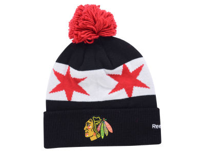 Chicago Blackhawks Reebok NHL 2015-2016 Stadium Series Pom Knit