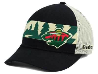Minnesota Wild Reebok NHL 2015-2016 Stadium Series Player Mesh Adjustable Cap