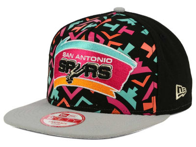 San Antonio Spurs New Era NBA Logo Mural Snap 9FIFTY Cap