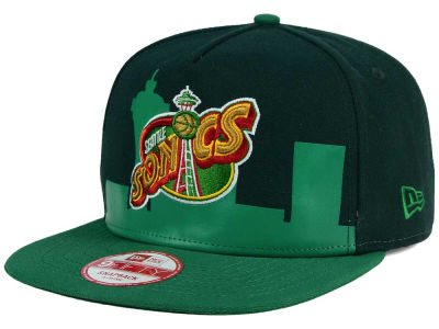 Seattle SuperSonics New Era NBA Logo Mural Snap 9FIFTY Cap