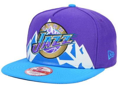Utah Jazz New Era NBA Logo Mural Snap 9FIFTY Cap