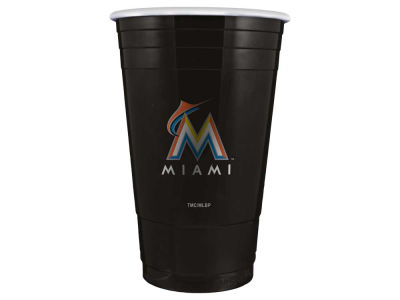 Miami Marlins 16oz Plastic Double Wall Cup