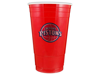 Detroit Pistons 16oz Plastic Double Wall Cup