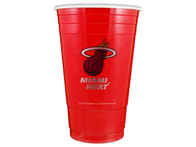 Miami Heat 16oz Plastic Double Wall Cup