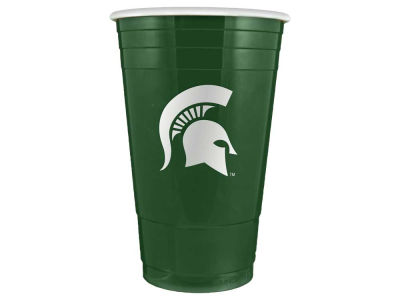 Michigan State Spartans 16oz Plastic Double Wall Cup