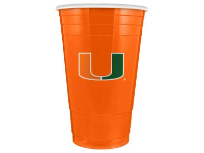 Miami Hurricanes 16oz Plastic Double Wall Cup