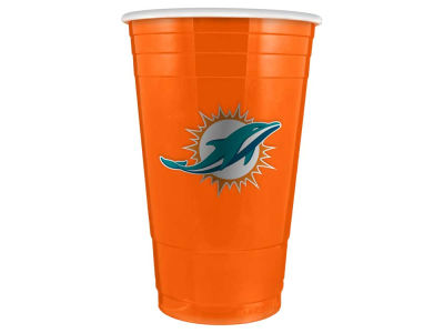 Miami Dolphins 16oz Plastic Double Wall Cup