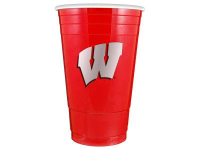Wisconsin Badgers 16oz Plastic Double Wall Cup