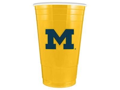 Michigan Wolverines 16oz Plastic Double Wall Cup