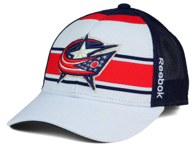 Columbus Blue Jackets Reebok NHL Ice Basket Adjustable Cap