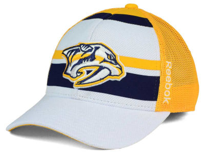 Nashville Predators Reebok NHL Ice Basket Adjustable Cap