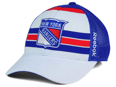 New York Rangers Reebok NHL Ice Basket Adjustable Cap
