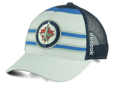 Winnipeg Jets Reebok NHL Ice Basket Adjustable Cap