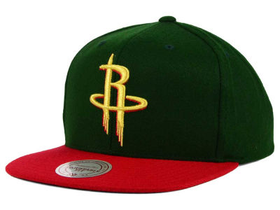Houston Rockets Mitchell and Ness NBA Holiday Collection Snapback Hat