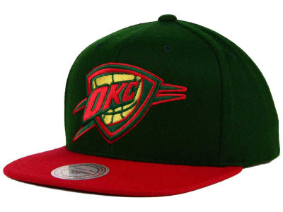 Oklahoma City Thunder Mitchell and Ness NBA Holiday Collection Snapback Hat