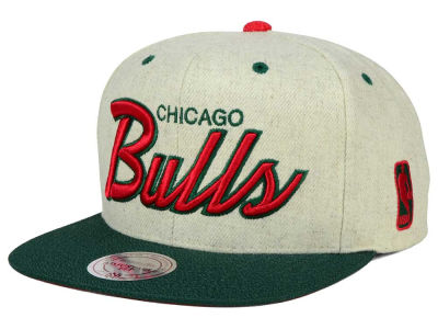 Chicago Bulls Mitchell and Ness NBA Holiday Collection Snapback Hat