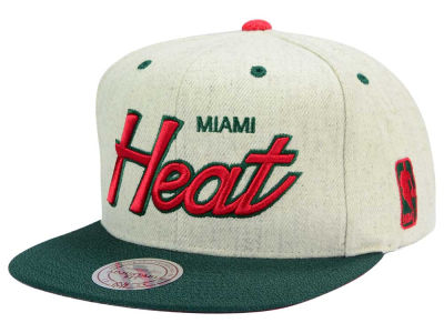Miami Heat Mitchell and Ness NBA Holiday Collection Snapback Hat