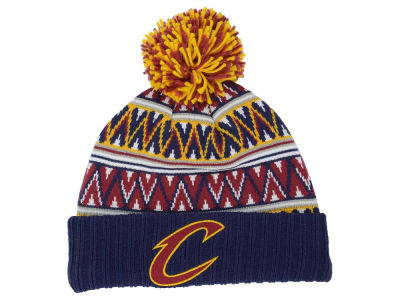 Cleveland Cavaliers Mitchell and Ness NBA Tribal HI 5 Pom Beanie