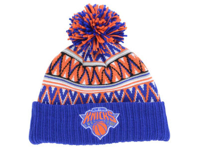 New York Knicks Mitchell and Ness NBA Tribal HI 5 Pom Beanie
