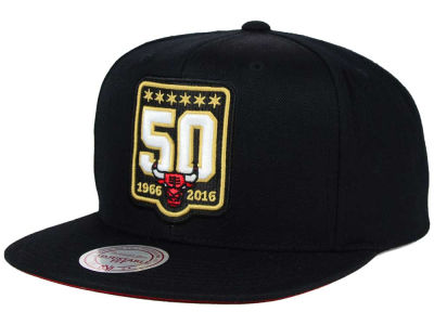 Chicago Bulls Mitchell and Ness NBA 50th Anniversary Snapback Hat