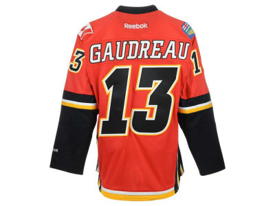 Calgary Flames Johnny Gaudreau Reebok NHL CN PT Premier Player Jersey