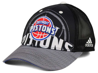 Detroit Pistons adidas NBA Shadow Trucker Cap