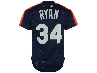 Houston Astros Nolan Ryan Mitchell and Ness MLB Men's Authentic Mesh Batting Practice V-Neck Jersey