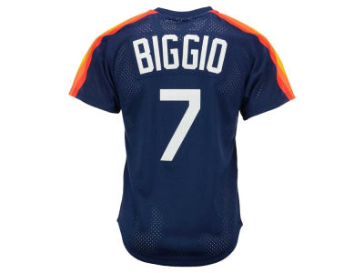 Houston Astros Craig Biggio Mitchell & Ness MLB Men's Authentic Mesh Batting Practice V-Neck Jersey