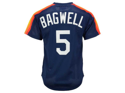 Houston Astros Jeff Bagwell Mitchell and Ness MLB Men's Authentic Mesh Batting Practice V-Neck Jersey