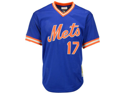 New York Mets Keith Hernandez Mitchell & Ness MLB Men's Authentic Mesh Batting Practice V-Neck Jersey