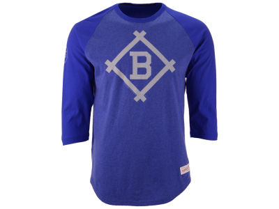 Brooklyn Dodgers Mitchell and Ness MLB Men's Top of the Inning Raglan Shirt