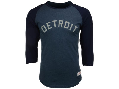 Detroit Tigers Mitchell and Ness MLB Men's Top of the Inning Raglan Shirt