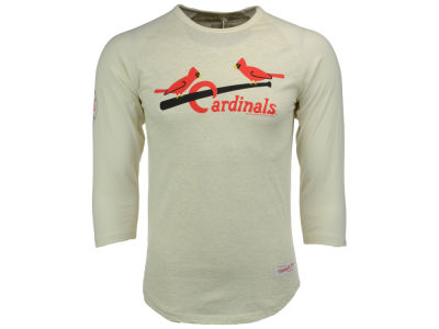 St. Louis Cardinals Mitchell and Ness MLB Men's Top of the Inning Raglan Shirt