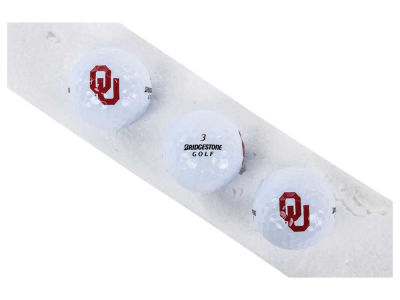 Oklahoma Sooners 3-pack Bridgestone Golf Balls