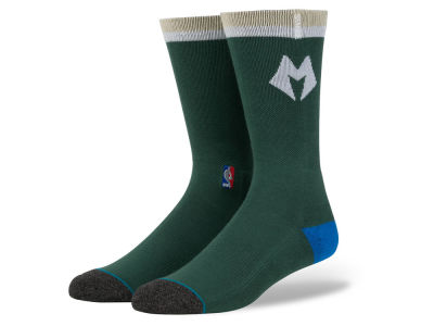 Milwaukee Bucks Stance NBA Arena Logo Crew Sock