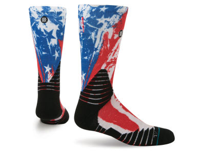 NBA All Star Stance NBA Hoops for Troops Crew Sock