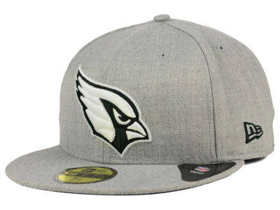 Arizona Cardinals New Era NFL Heather Black White 59FIFTY Cap