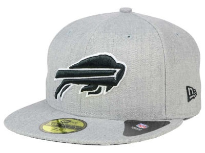 Buffalo Bills New Era NFL Heather Black White 59FIFTY Cap