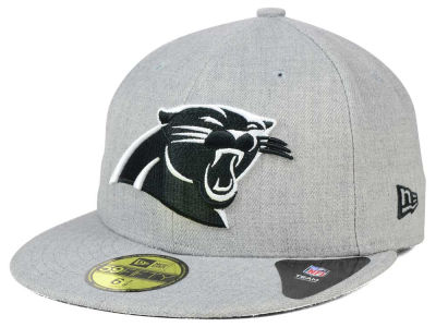 Carolina Panthers New Era NFL Heather Black White 59FIFTY Cap