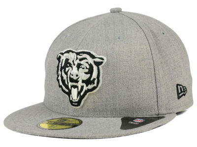 Chicago Bears New Era NFL Heather Black White 59FIFTY Cap