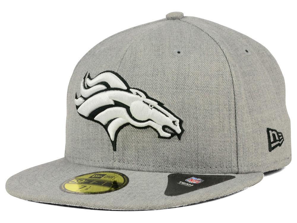 dadad439c Denver Broncos New Era NFL Heather Black White 59FIFTY Cap