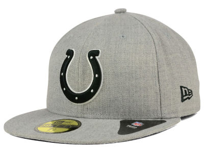 Indianapolis Colts New Era NFL Heather Black White 59FIFTY Cap